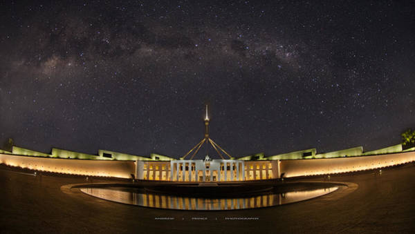 Southern Sky Parliament House  Art Print by Andrew Prince