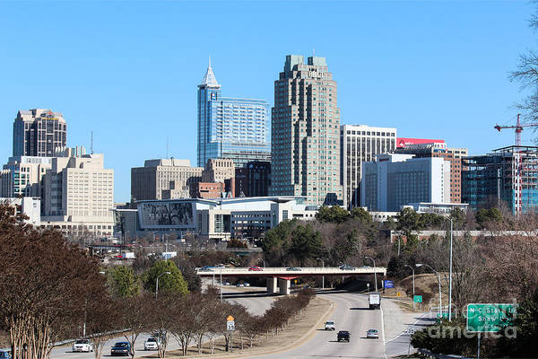 Nc State Wall Art - Photograph - Southern View Of Downtown Raleigh North Carolina by Robert Yaeger