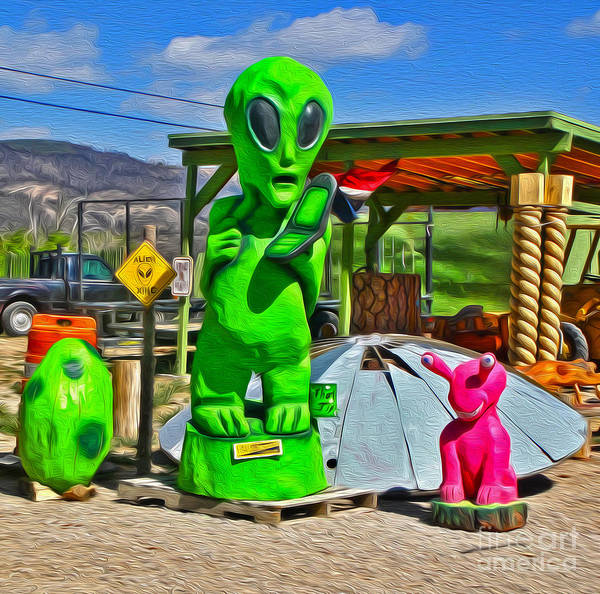 Photograph - Southwest Aliens Phone Home by Gregory Dyer
