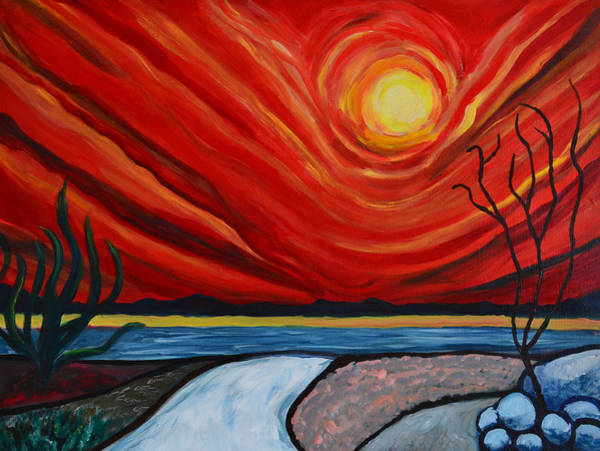 Valley Of Fire Painting - Southwest Desert Sun by Katy Hawk