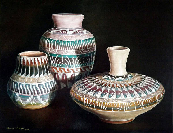Painting - Southwest Pottery by Linda Becker