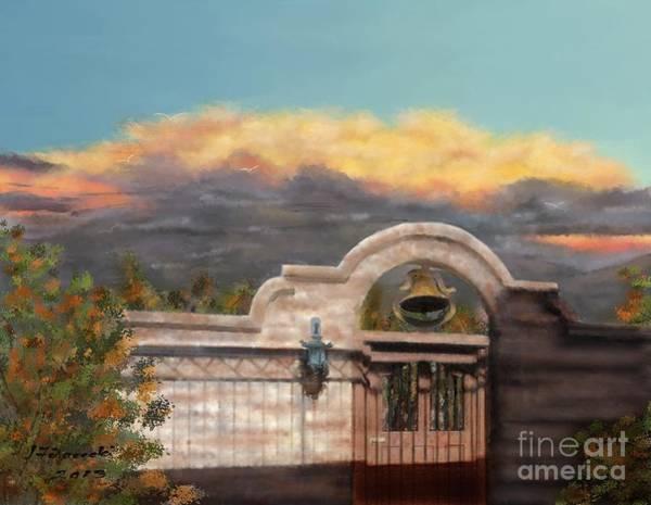 Southwestern Monsoon Sunset Art Print by Judy Filarecki