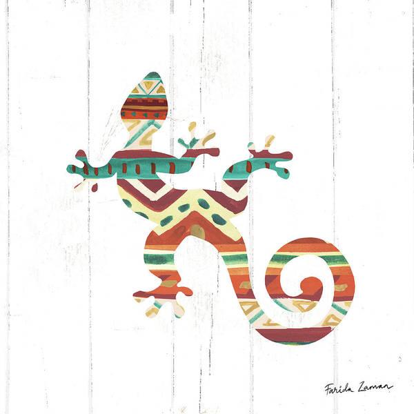 Lizard Painting - Southwestern Vibes V by Farida Zaman