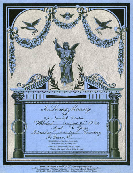 1924 Drawing - 'souvenir' Card Issued By  Chappells by Mary Evans Picture Library