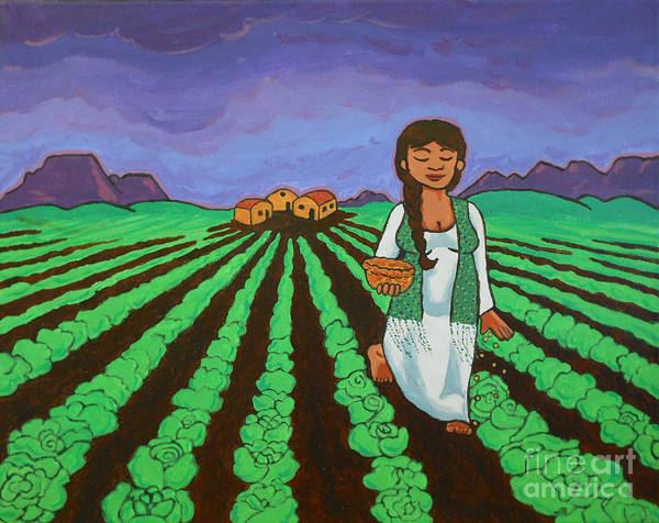 Painting - Sowing by Whitney Morton
