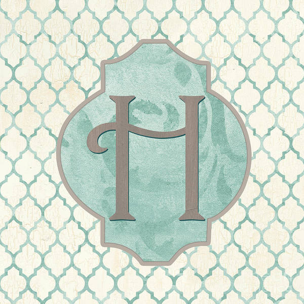 Text Wall Art - Painting - Spa Monogram by Debbie DeWitt