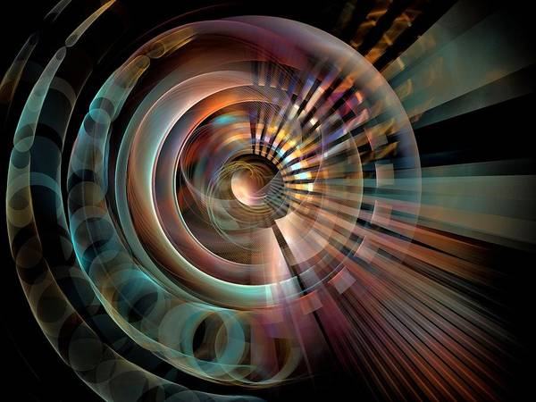 Dive Bar Digital Art - Space-1-centerbb by Bill Campitelle