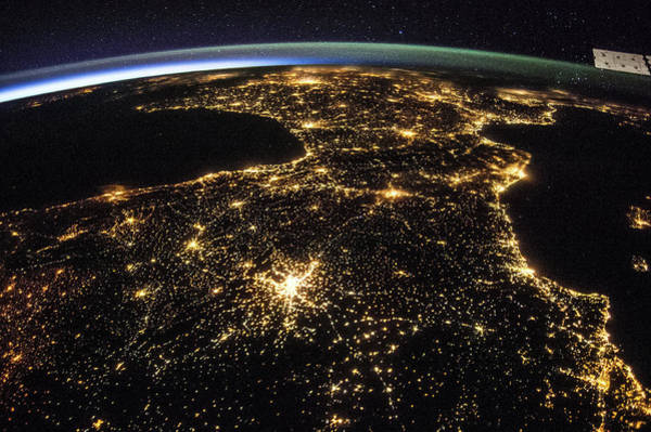 Wall Art - Photograph - Space And France At Night by Nasa