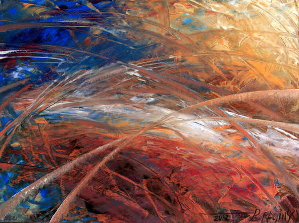 Abstraction Painting - Space And Time by Arthur Braginsky