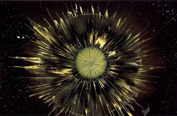 Painting -  Dandelion Floating In Space by Jason Girard