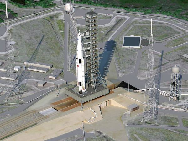 Center Stage Photograph - Space Launch System Launch by Nasa
