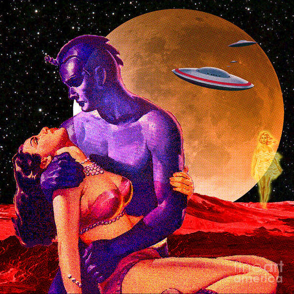 Digital Art - Space Love by Sasha Keen
