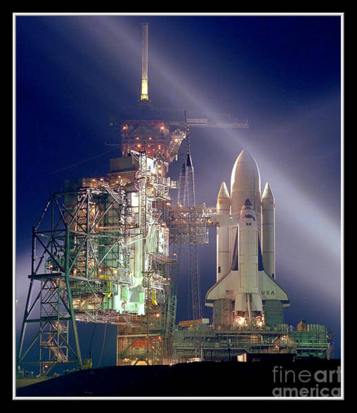 Photograph - Space Shuttle Columbia Launch Nasa by Rose Santuci-Sofranko