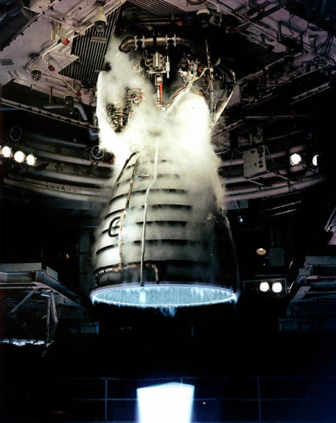 1981 Photograph - Space Shuttle Engine Testing by Nasa