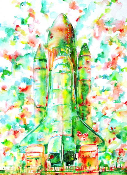 Space Shuttle Painting - Space Shuttle - Launch Pod by Fabrizio Cassetta