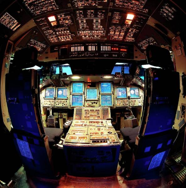 Wall Art - Photograph - Space Shuttle Simulator Cockpit by Nasa/science Photo Library