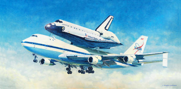 Painting - Space Shuttle's Last Flight by Douglas Castleman
