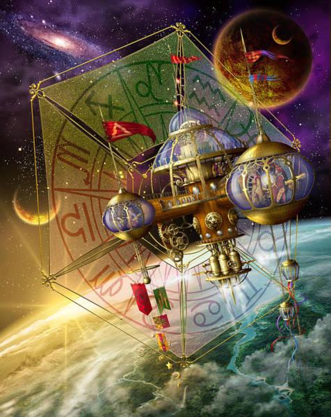 Spirituality Digital Art - Space Station by MGL Meiklejohn Graphics Licensing