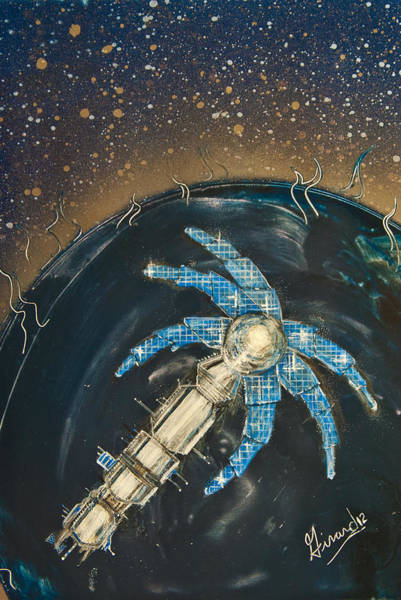 Painting - Space Station Florida by Jason Girard