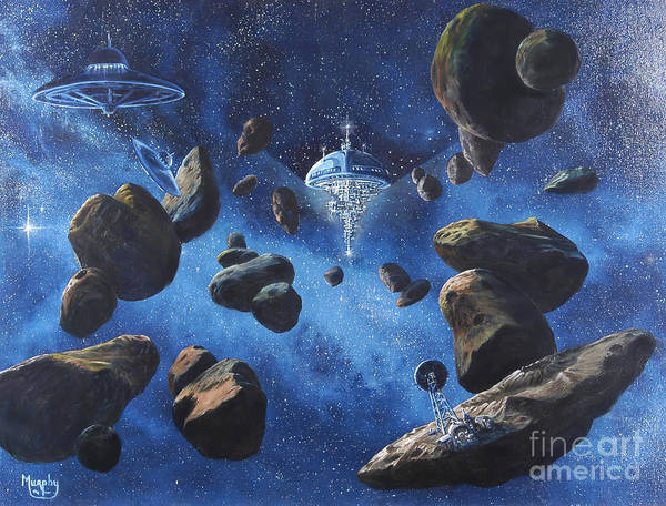 Wall Art - Painting - Space Station Outpost Twelve by Murphy Elliott