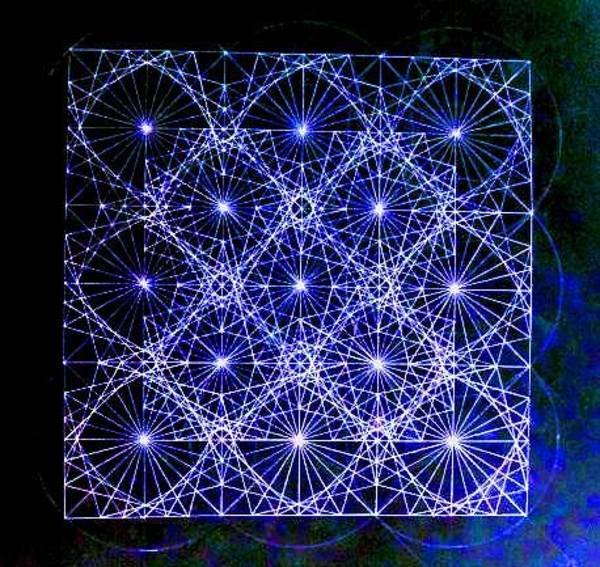 Sacred Geometry Drawing - Space Time At Planck Length Vibrating At Speed Of Light Due To Heisenberg Uncertainty Principle by Jason Padgett