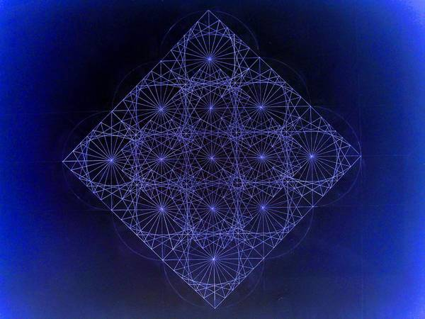 Sacred Geometry Drawing - Space Time Sine Cosine And Tangent Waves by Jason Padgett