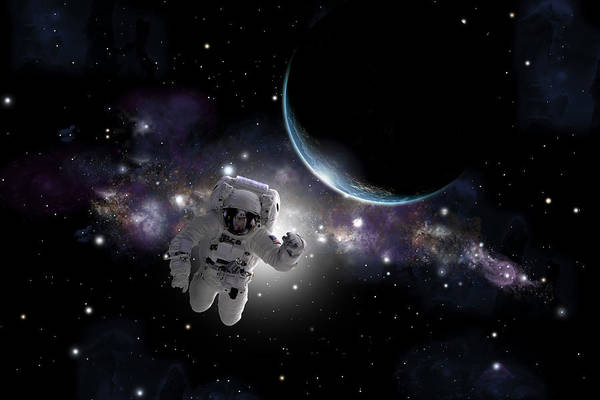 Deep Space Mixed Media - Space Walk  by Marc Ward