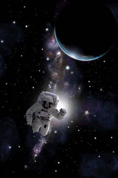 Deep Space Mixed Media - Space Walk  No.1v by Marc Ward