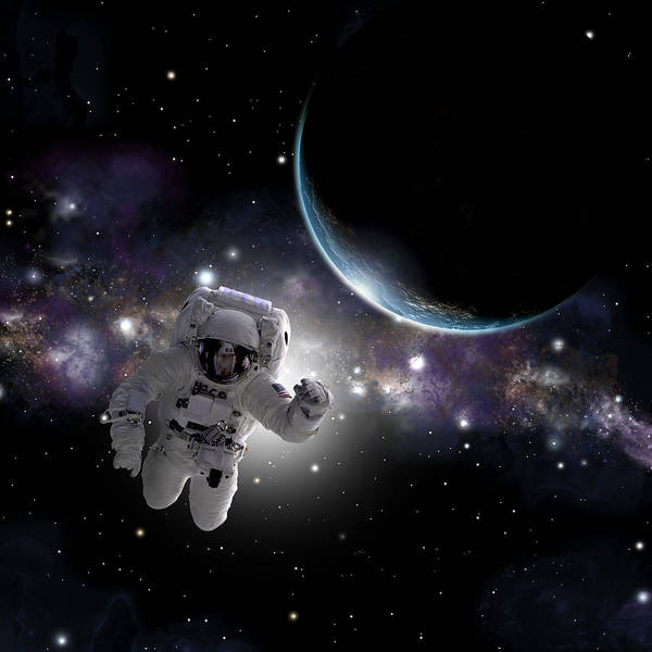 Deep Space Mixed Media - Space Walk No.2 by Marc Ward