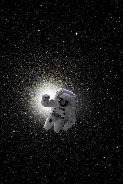 Deep Space Mixed Media - Space Walk No.5v by Marc Ward