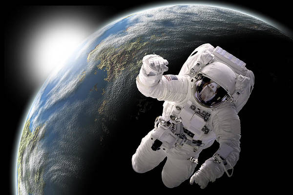 Deep Space Mixed Media - Space Walk No.8 by Marc Ward