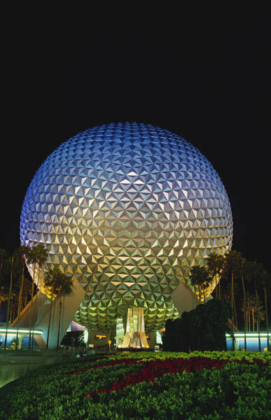 Epcot Center Wall Art - Photograph - Spaceship Earth, Epcot Center by F. Stuart Westmorland