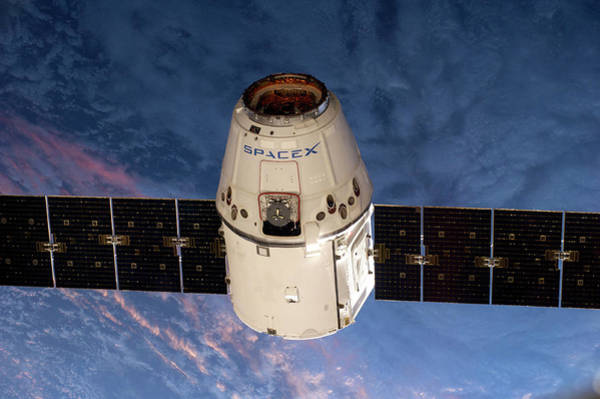 Wall Art - Photograph - Spacex Dragon Capsule At The Iss by Nasa