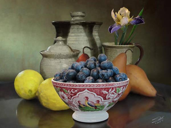 Ir Painting - Spadecaller's Breakfast Fruit by M Spadecaller