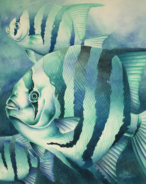 Painting - Spadefish by William Love