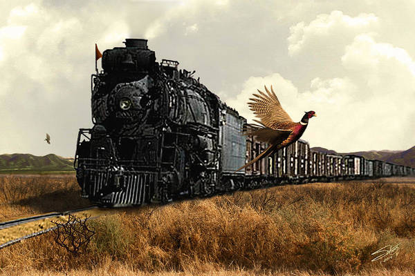 Pheasant Digital Art - Spade's Iron Horse by M Spadecaller