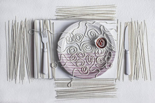 Dinner Photograph - S.p.a.g.h.e.t.t.i - 2 by Dimitar Lazarov -