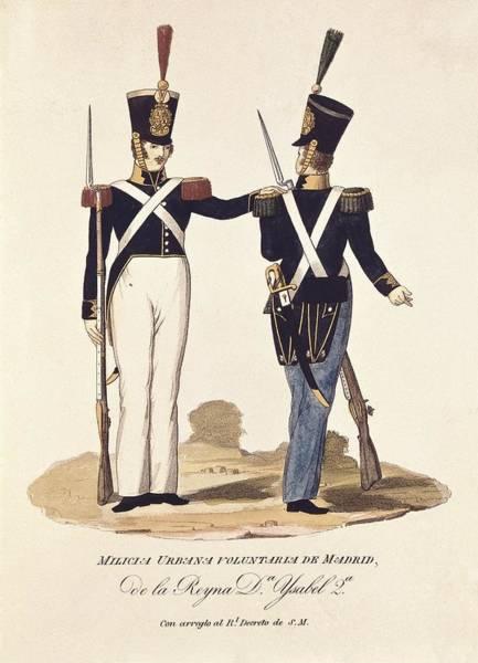 Militiaman Photograph - Spain 19th C.. Volunteer Urban Militia by Everett