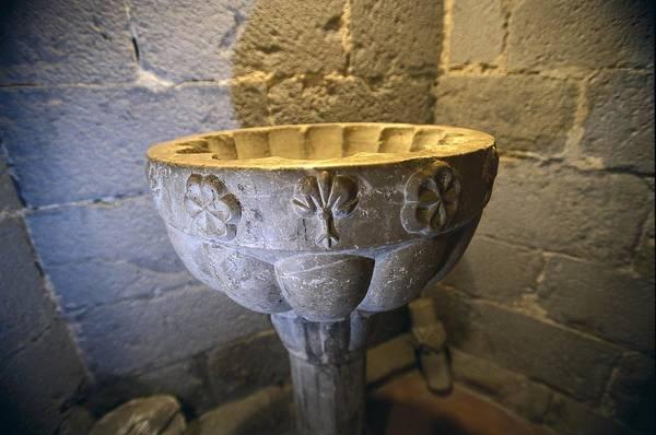 Spain. Castell� Demp�ries. Basilica Art Print