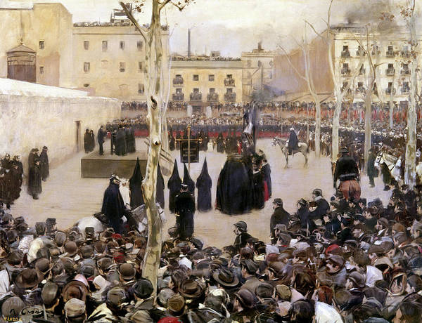 Strangling Painting - Spain Execution, C1893 by Granger