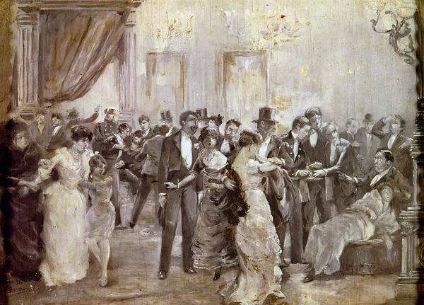 Spanish People Drawing - Spain Liceu Theater, 1893 by Granger
