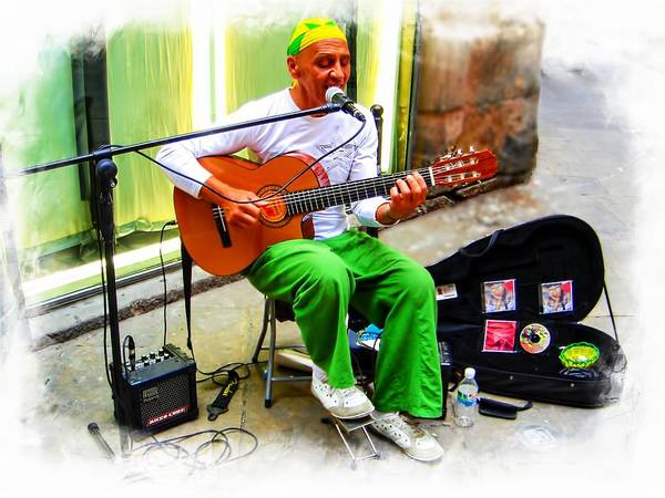 Photograph - Guitar Player From Brazil - Spain Series 18 by Carlos Diaz