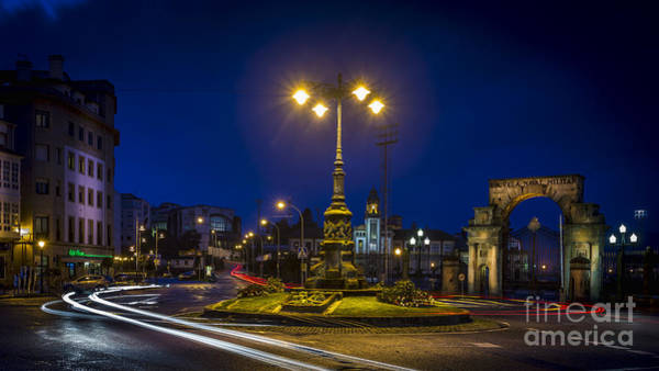Photograph - Spain Square In Marin And Carlos I Gate Galicia Spain by Pablo Avanzini