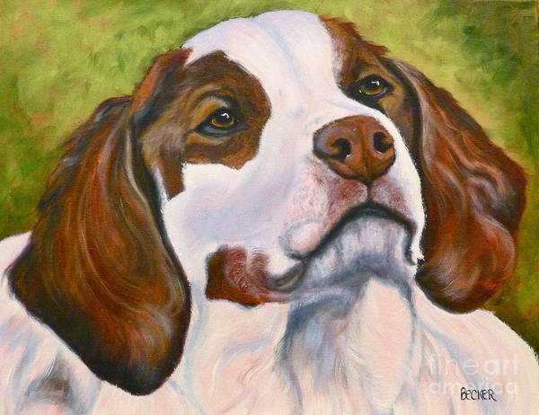 Welsh Springer Spaniel Painting - Spaniel Soul by Susan A Becker