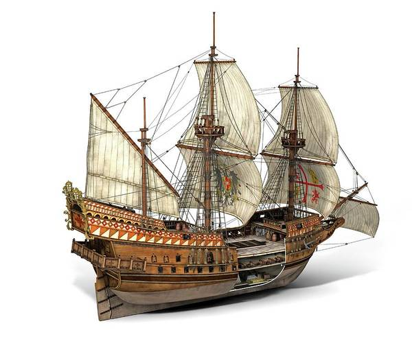 San-antonio Photograph - Spanish Galleon San Jose by Jose Antonio Penas/science Photo Library