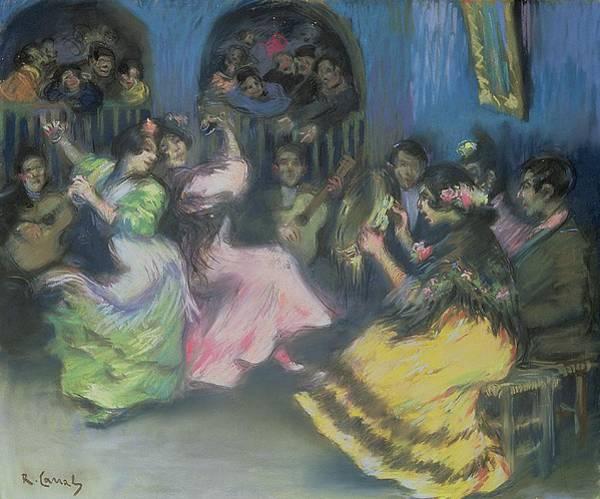 Spanish Guitar Wall Art - Painting - Spanish Gypsy Dancers, 1898 by Ricardo Canals y Llambi