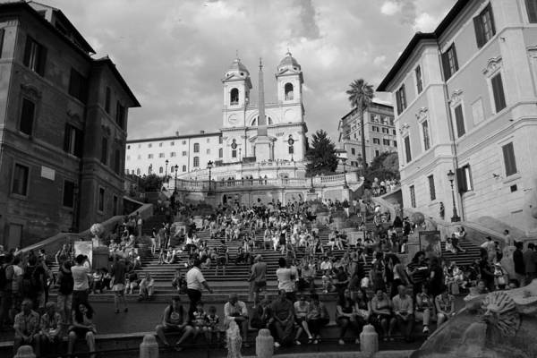 Photograph - Spanish Steps 1 by Andrew Fare