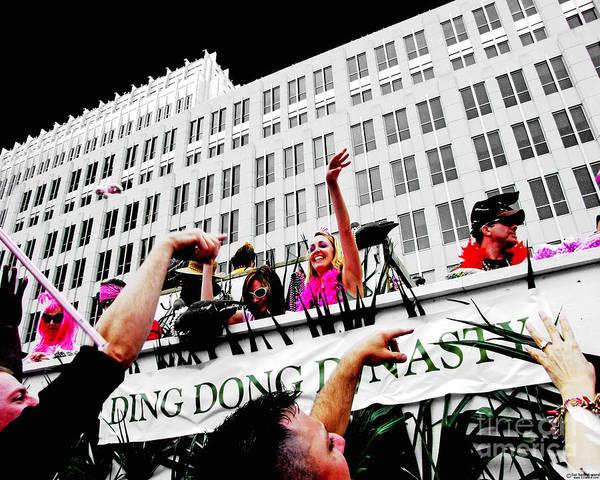Digital Art - Spanish Town Mardi Gras Parade Float  Baton Rouge Louisiana by Lizi Beard-Ward