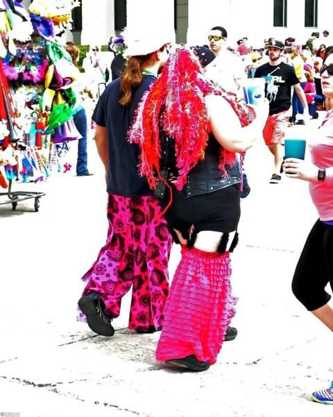 Photograph - Spanish Town Parade Strollers by Lizi Beard-Ward