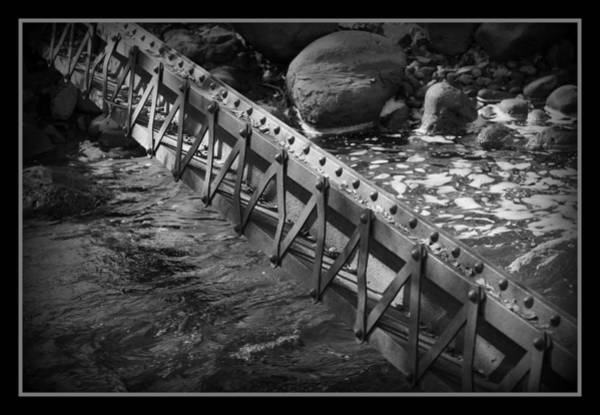 Steel Beams Wall Art - Photograph - Spanning The Creek by Ernie Echols